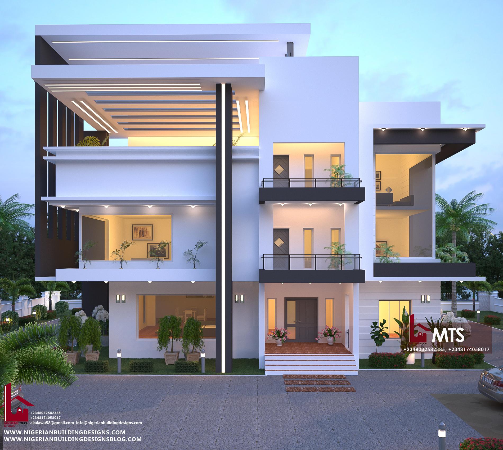 7 Bedroom Duplex Rf D7003 Nigerian Building Designs